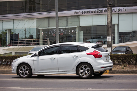 Chiangmai, Thailand - April 30 2019: Private car, Ford Focus. Photo at road no 121 about 8 km from downtown Chiangmai, thailand.