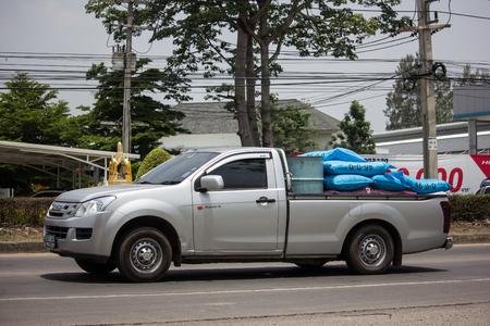 Chiangmai, Thailand - May 17 2019: Private Isuzu Dmax Pickup Truck. On road no.1001 8 km from Chiangmai city.