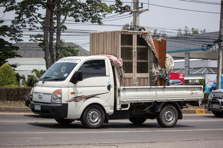 Chiangmai, Thailand - May 17 2019: Private Pickup car, Hyundai H100. Photo at road no 121 about 8 km from downtown Chiangmai, thailand.