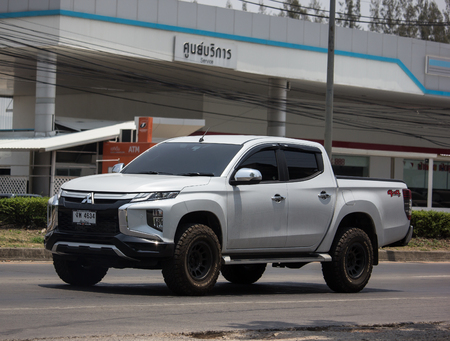 Chiangmai, Thailand - May 21 2019:  Private car, New Mitsubishi Triton Pickup Truck. On road no.1001, 8 km from Chiangmai Business Area. Editorial