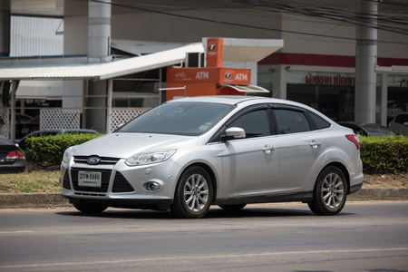 Chiangmai, Thailand - May 21 2019: Private car, Ford Focus. Photo at road no 121 about 8 km from downtown Chiangmai, thailand.