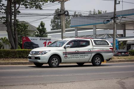 Chiangmai, Thailand - May 21 2019: Private car, Mitsubishi Triton Pickup Truck. On road no.1001, 8 km from Chiangmai Business Area.