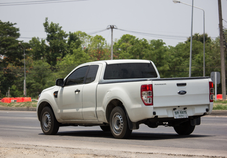Chiangmai, Thailand - May 21 2019: Private Pickup car, Ford Ranger. On road no.1001, 8 km from Chiangmai city. Editorial
