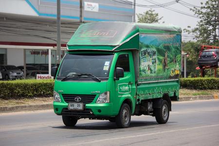 Chiangmai, Thailand - May 21 2019: Private Tata SuperACE City Giant Mini truck. On road no.1001 8 km from Chiangmai city.