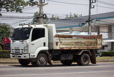 Chiangmai, Thailand - May 23 2019: Private Isuzu Dump Truck. On road no.1001 8 km from Chiangmai Business Area. Editorial