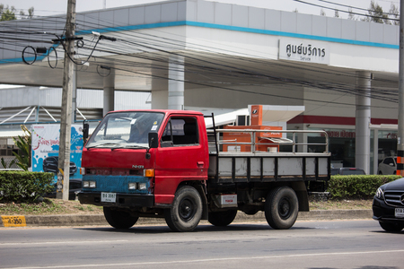 Chiangmai, Thailand - May 23 2019: Private Hino  Cargo Truck. Photo at road no.1001 about 8 km from downtown Chiangmai, thailand.