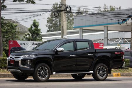 Chiangmai, Thailand - May 23 2019: Private car, New Mitsubishi Triton Pickup Truck. On road no.1001, 8 km from Chiangmai Business Area.