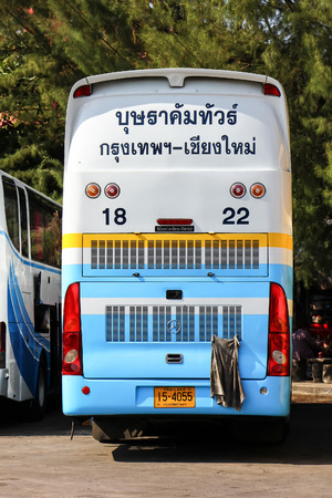 Chiangmai, Thailand - December 26 2012: Bus of Budsarakham  tour bus Company. Photo at Chiangmai bus station, thailand.