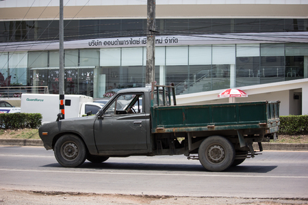Chiangmai, Thailand - May 23 2019: Private old Pickup car, Nissan or Datsan 1500 Dump Truck. Editorial