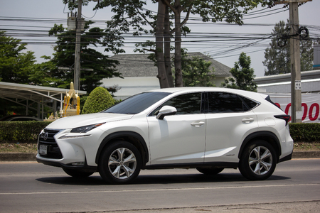 Chiangmai, Thailand - May 23 2019: Private Suv car Lexus NX300.   On road no.1001, 8 km from Chiangmai city. Редакционное