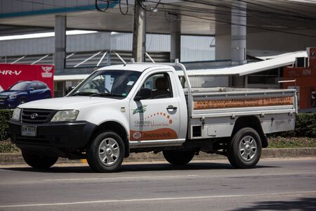 Chiangmai, Thailand - June 4 2019: Private Tata Xenon  Pickup truck. Photo at road no 121 about 8 km from downtown Chiangmai, thailand.