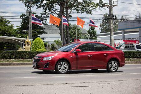 Chiangmai, Thailand - June 4 2019: Private car, Chevrolet Cruze. On road no.1001, 8 km from Chiangmai city.