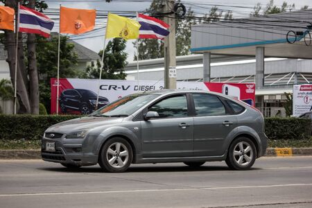 Chiangmai, Thailand - June 13 2019: Private car, Ford Focus. Photo at road no 121 about 8 km from downtown Chiangmai, thailand. Redactioneel