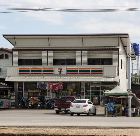 Chiangmai, Thailand - June 21 2019:  7-11 store. Location on road no121.  About 6 km from chiangmai city. Chiangmai, Thailand.