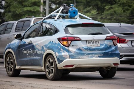 Chiangmai, Thailand - June 25 2019: Honda HRV of Google Street View. Photo from road no.121 outside ring road of chiangmai city. Editorial