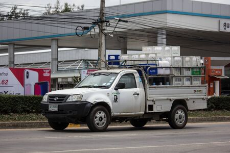 Chiangmai, Thailand - June 13 2019:  Private Tata Xenon  Pickup truck. Photo at road no 121 about 8 km from downtown Chiangmai, thailand.