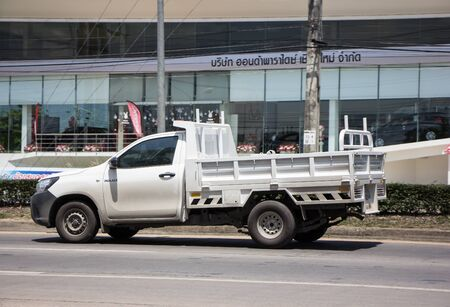 Chiangmai, Thailand - June 21 2019: Private Toyota Hilux  Pickup Truck.  On road no.1001 8 km from Chiangmai city.