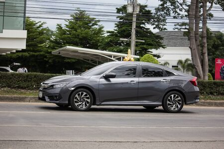 Chiangmai, Thailand - July 11 2019: Private Sedan Car from Honda Automobil,Tenth generation Honda Civic. On road no.1001 8 km from Chiangmai Business Area. Redakční