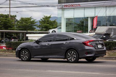 Chiangmai, Thailand - July 11 2019: Private Sedan Car from Honda Automobil,Tenth generation Honda Civic. On road no.1001 8 km from Chiangmai Business Area. 에디토리얼