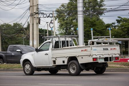 Chiangmai, Thailand - July 11 2019:  Private Tata Xenon  Pickup truck. Photo at road no 121 about 8 km from downtown Chiangmai, thailand.