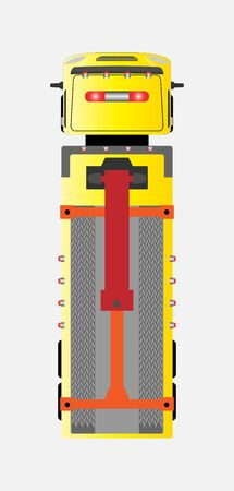 top view Tow truck for emergency car move Stock Vector - 128054134