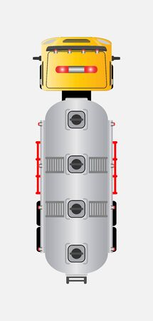 top view oil tank truck Vector car