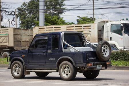 Chiangmai, Thailand - August 20 2019: Private car, Suzuki Caribian. Photo at road no.1001 about 8 km from downtown Chiangmai, thailand.