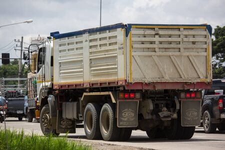Chiangmai, Thailand - August 22 2019: Trailer Dump Truck of Payawan Transport Company. Photo at road no.121 about 8 km from downtown Chiangmai, thailand. Redakční