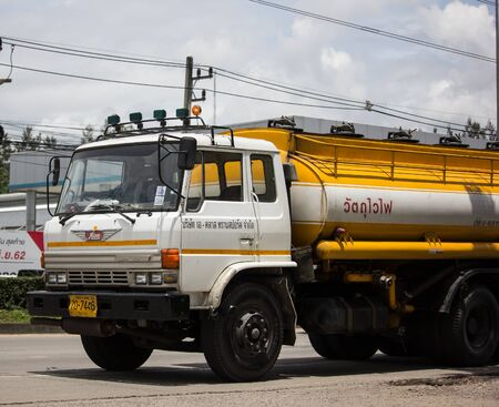 Chiangmai, Thailand - August 22 2019:  Oil Truck of A Class Oil transport Company. Photo at road no.1001 about 8 km from city center, thailand. Redakční