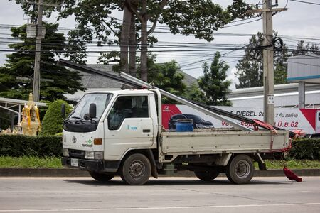 Chiangmai, Thailand - August 22 2019: Private Toyota Toyoace Truck. On road no.1001, 8 km from Chiangmai city. Editorial