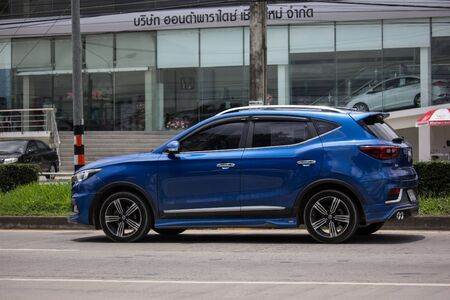 Chiangmai, Thailand - August 22 2019: Private Suv Car MG ZS. Product from British automotive. On road no.1001, 8 km from Chiangmai city. Sajtókép