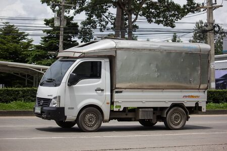 Chiangmai, Thailand - August 29 2019: Private Tata SuperACE City Giant Mini truck. On road no.1001 8 km from Chiangmai city.