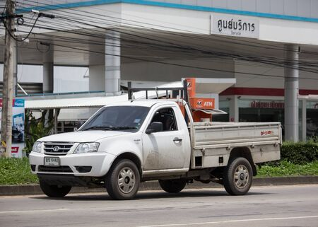 Chiangmai, Thailand - August 29 2019: Private Tata Xenon  Pickup truck. Photo at road no 121 about 8 km from downtown Chiangmai, thailand.