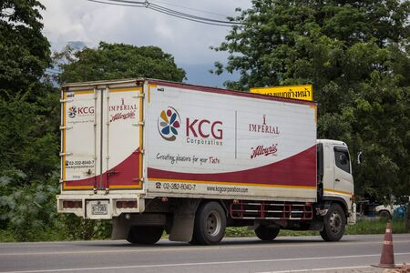 Chiangmai, Thailand - September 6 2019: Container truck of KCG Kim Chua Group. Photo at road no.1001 about 8 km from city center, thailand.