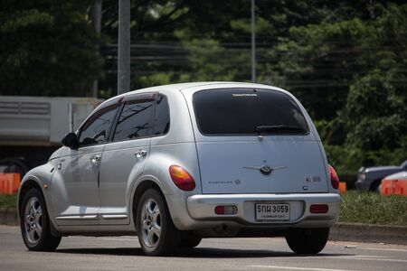Chiangmai, Thailand -  October 3 2019: Private Chrysler PT Cruiser Car. Photo at road no 121 about 8 km from downtown Chiangmai, thailand. 에디토리얼