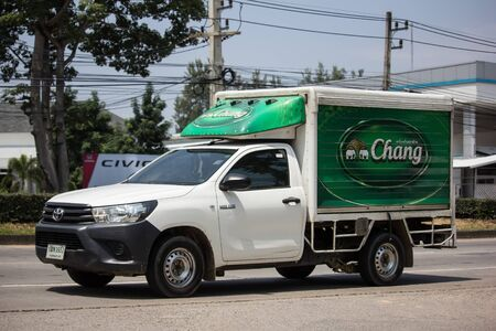 Chiangmai, Thailand - September 24 2019: Truck of TBL. Thai Beverage Logistic. On road no.1001, 8 km from Chiangmai city.