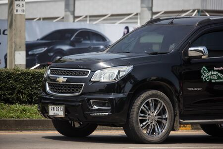 Chiangmai, Thailand - September 30 2019: Private SUV car, Chevrolet Trailblazer. On road no.1001, 8 km from Chiangmai city. 報道画像