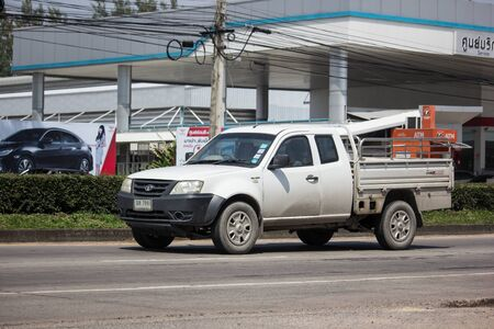 Chiangmai, Thailand - September 30 2019: Private Tata Xenon  Pickup truck. Photo at road no 121 about 8 km from downtown Chiangmai, thailand.
