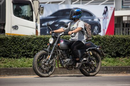 Chiangmai, Thailand - September 30 2019: Private gpx legend 200 Motorcycle. Photo at road no.121 about 8 km from downtown Chiangmai, thailand. Editöryel