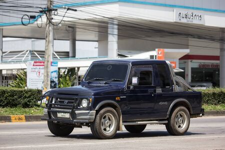 Chiangmai, Thailand -  October 3 2019: Private car, Suzuki Caribian. Photo at road no.1001 about 8 km from downtown Chiangmai, thailand.