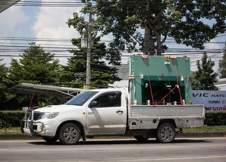 Chiangmai, Thailand -  October 3 2019: Private Toyota Hilux Vigo  Pickup Truck.  On road no.1001 8 km from Chiangmai city.