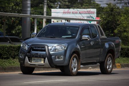 Chiangmai, Thailand -  October 8 2019: Private Isuzu Dmax Pickup Truck. On road no.1001 8 km from Chiangmai city. Stock Photo - 132990518