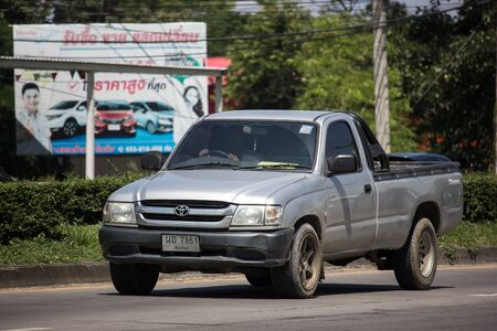 Chiangmai, Thailand -  October 8 2019: Private Toyota Hilux Tiger Pickup Truck.  On road no.1001 8 km from Chiangmai city. Stock Photo - 132990519