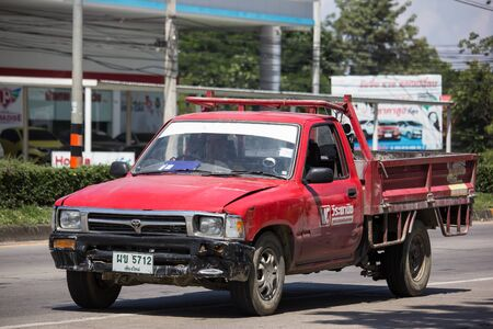 Chiangmai, Thailand -  October 8 2019: Private Toyota Hilux Tiger Pickup Truck.  On road no.1001 8 km from Chiangmai city. Stock Photo - 132990524
