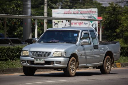Chiangmai, Thailand -  October 8 2019: Private Isuzu TFR Pickup Truck. On road no.1001 8 km from Chiangmai city. Stock Photo - 132990534