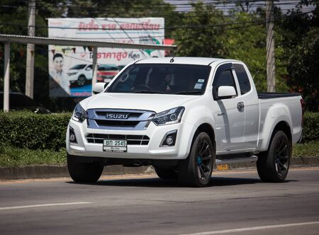 Chiangmai, Thailand -  October 8 2019: Private Isuzu Dmax Pickup Truck. On road no.1001 8 km from Chiangmai city. Stock Photo - 132990546
