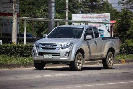 Chiangmai, Thailand -  October 8 2019: Private Isuzu Dmax Pickup Truck. On road no.1001 8 km from Chiangmai city. Stock Photo - 133171708