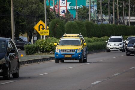 Chiangmai, Thailand -  October 10 2019: City taxi chiangmai, Service in city. Photo at road no.1001 about 8 km from downtown Chiangmai, thailand. Stock Photo - 133171732