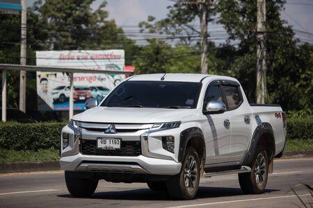 Chiangmai, Thailand -  October 8 2019: Private car, New Mitsubishi Triton Pickup Truck. On road no.1001, 8 km from Chiangmai Business Area. Stock Photo - 133171734