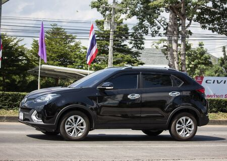 Chiangmai, Thailand -  October 29 2019: Private Suv Car MG GS. Product from British automotive. On road no.1001, 8 km from Chiangmai city. Sajtókép